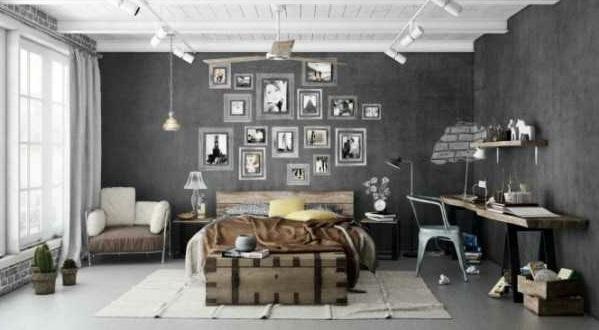 farbgestaltung Wandfarbe in Grautönen  modern deko