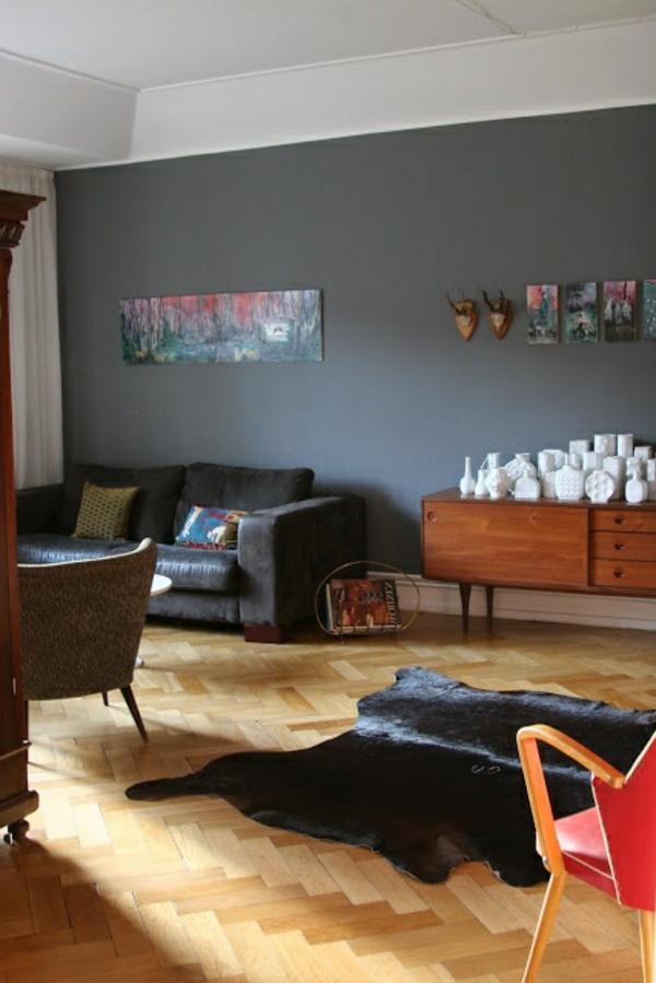 30 wohnideen f r wandfarbe in graut nen trendy farbgestaltung. Black Bedroom Furniture Sets. Home Design Ideas