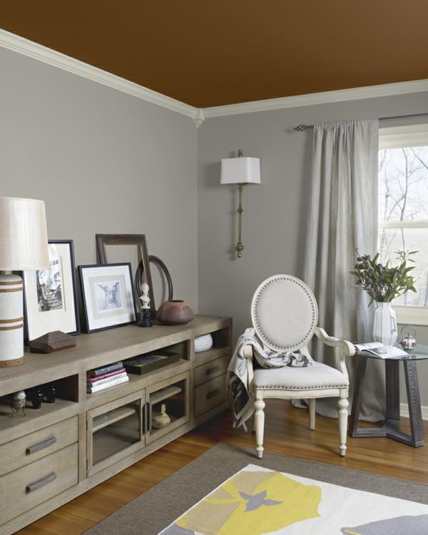 Braune Wandfarbe Schlafzimmer: 30 Wohnideen Für Wandfarbe In Grautönen