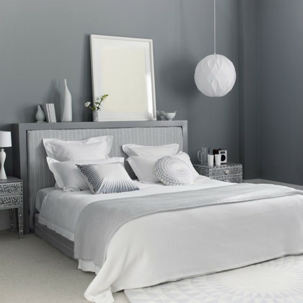 Graue Wände Wohnzimmer: 30 Wohnideen Für Wandfarbe In Grautönen