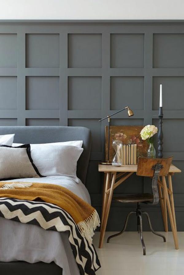 Wandfarbe Grautöne farbgestaltung modern schlafzimmer