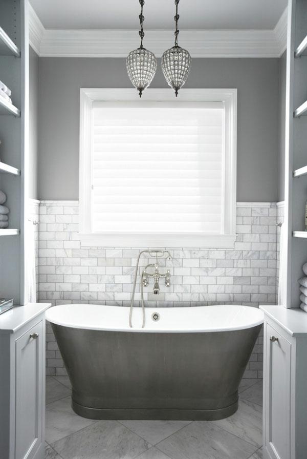 Wandfarbe Grau farbgestaltung modern vintage bett