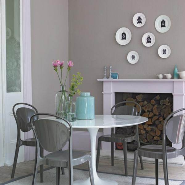 30 Wohnideen für Wandfarbe in Grautönen - trendy Farbgestaltung