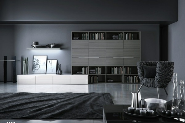 30 wohnideen f r wandfarbe in graut nen trendy. Black Bedroom Furniture Sets. Home Design Ideas