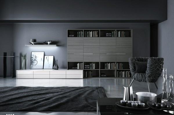 Wandfarbe Grau farbgestaltung modern weiß