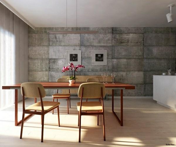 wandfarbe mit betonoptik w nde aus beton. Black Bedroom Furniture Sets. Home Design Ideas