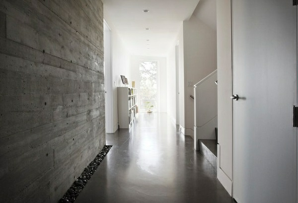 Wall paint with concrete look - walls made of concrete