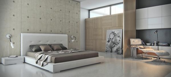 Wandfarbe mit betonoptik w nde aus beton - Farbgestaltung wande ...
