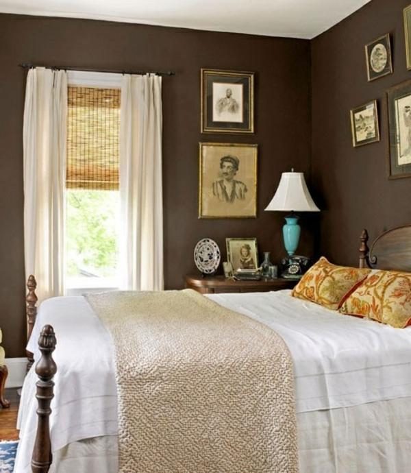 Braune Wandfarbe Schlafzimmer: Wärme Und Gemütlichkeit