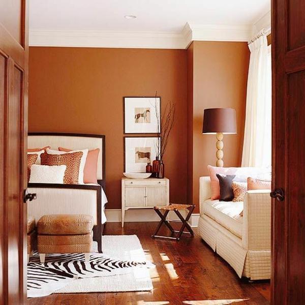 Wandfarben Gemälde Brauntöne Wandfarben Ideen Sofa Lampe