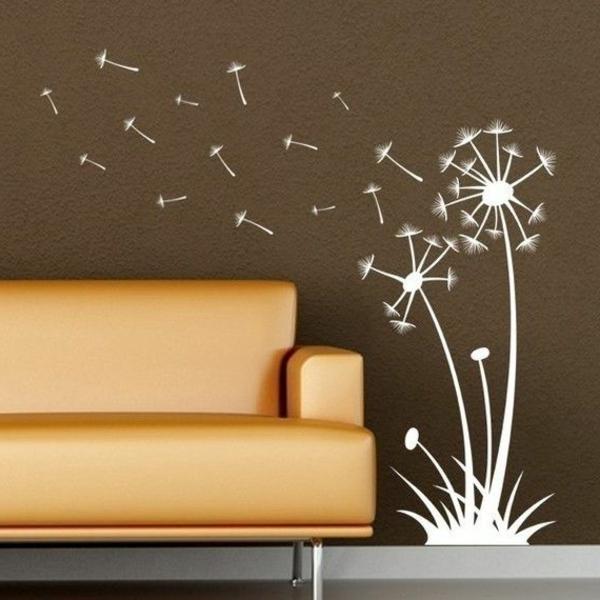 Wandfarben Brauntöne wandfarben ideen sofa leder
