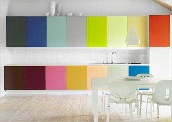 kuchenschranke farben : Wandgestaltung f?r die K?che ? Einrichtungsl?sungen nach jedem ...