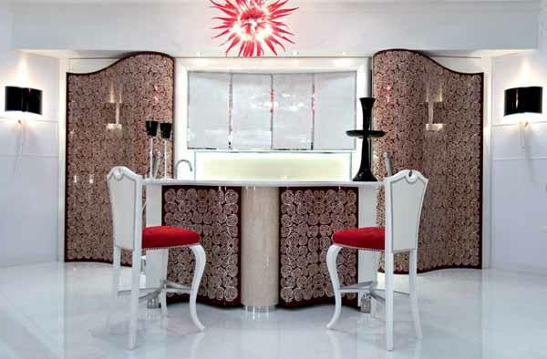 Wandgestaltung für die Küche extravagant
