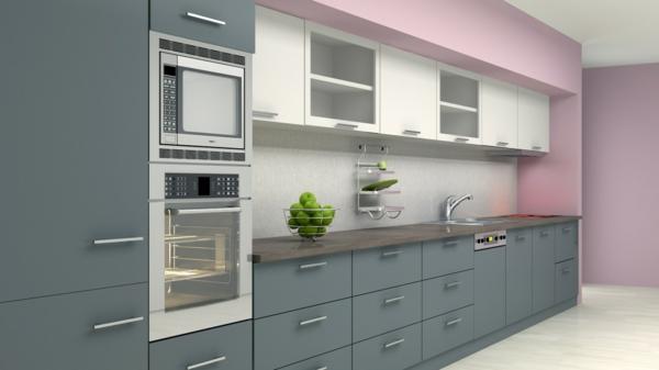 Wandgestaltung für die Küche gemischt