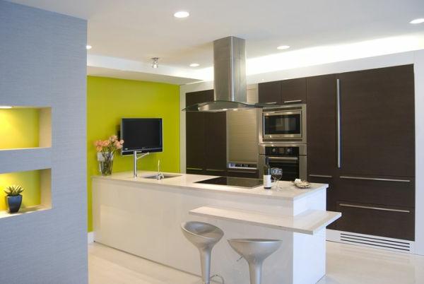 Wandgestaltung für die Küche monochromatisch