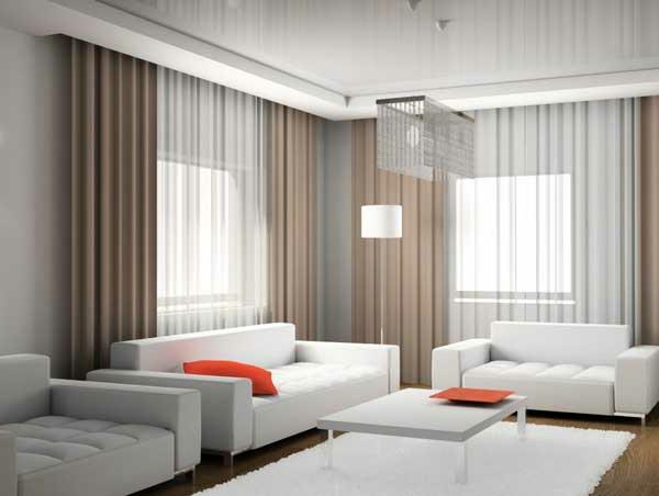 design : gardinen modern wohnzimmer braun ~ inspirierende bilder ... - Gardinen Wohnzimmer Beige