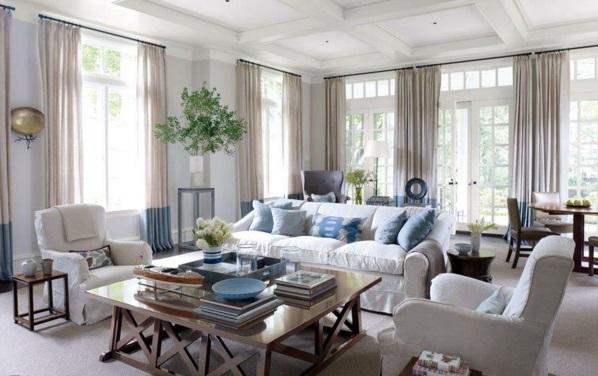 wohnzimmergardinen und vorh nge richtig ausw hlen. Black Bedroom Furniture Sets. Home Design Ideas