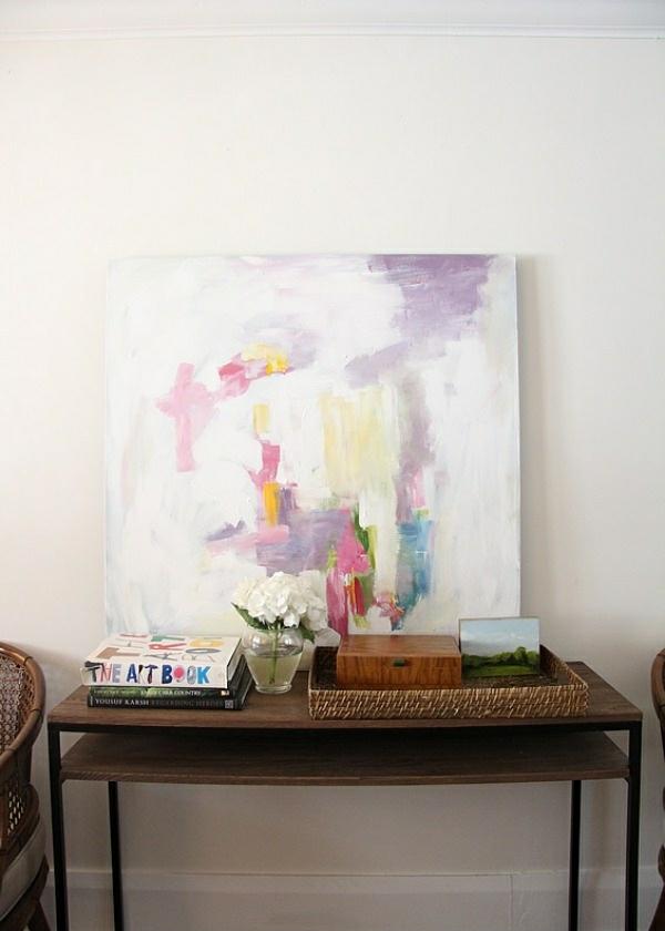 abstrakte kunst wandgemälde wanddeko ideen