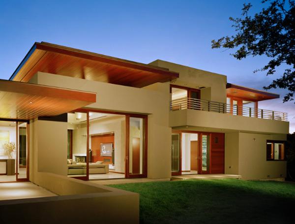 moderne Haus Architektur  treppen