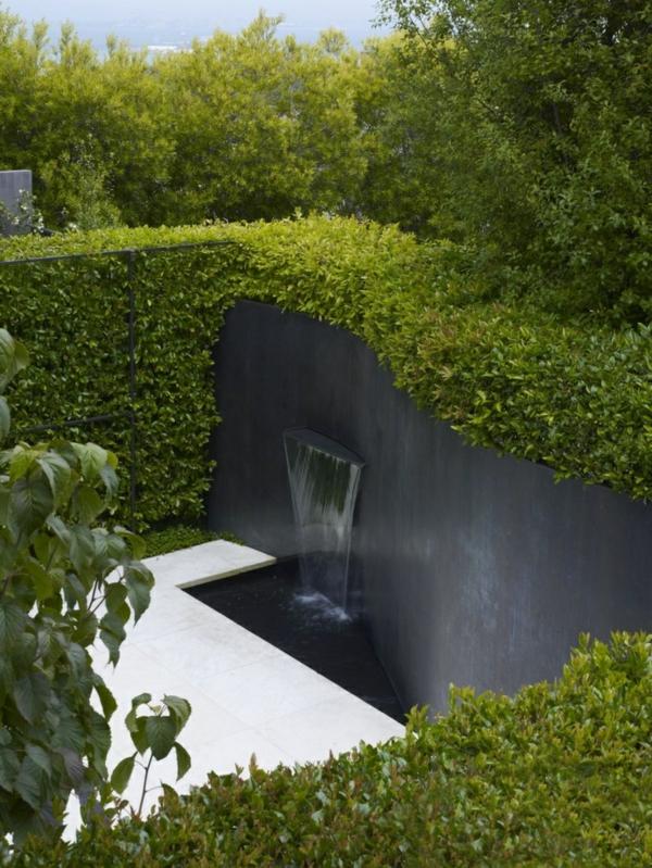 103 beispiele f r moderne gartengestaltung - Wasserfall fur pool ...