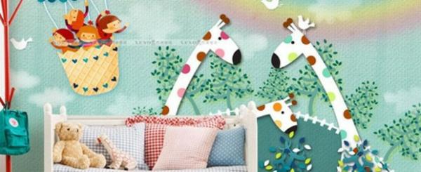 babyzimmer wandgestaltung wandtattoos mit tieren - Wandgestaltung Babyzimmer