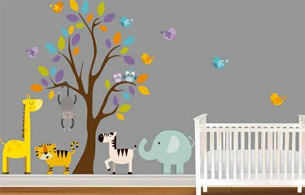 Babyzimmer Wandgestaltung – 15 Wanddeko Ideen mit Tieren