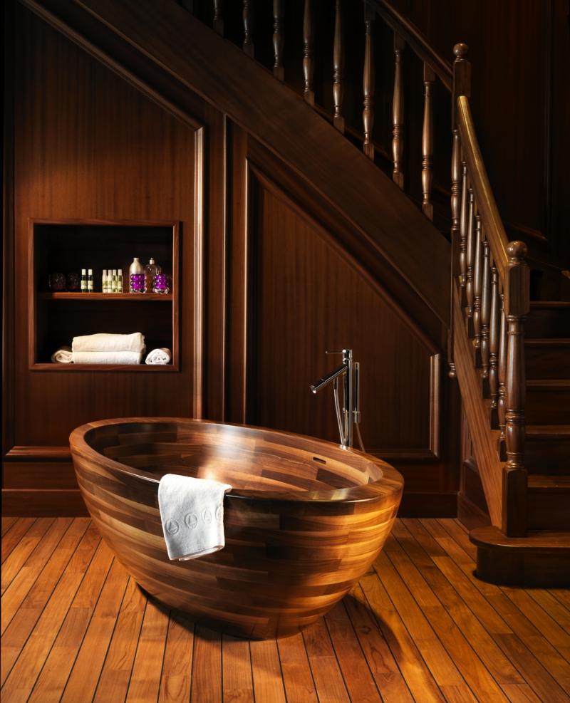 badewanne aus holz - der eyecatcher im modernen badezimmer