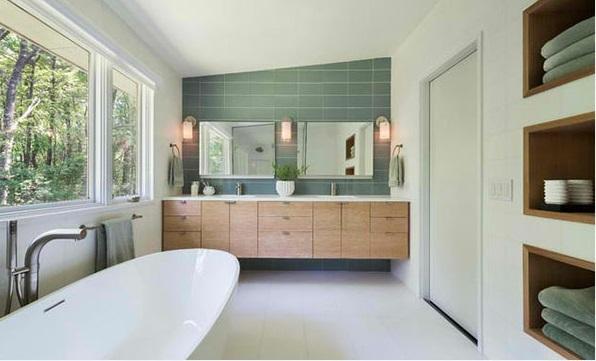 badezimmer design flache bad schränke