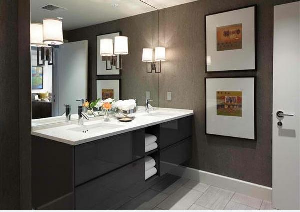 badezimmer design flache bad schränke ideen bilder