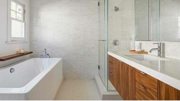 badezimmer design flache bad schränke ideen holz duschkabine