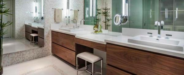 badezimmer design flache bad schränke ideen holz