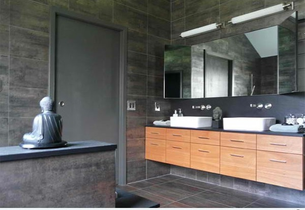 badezimmer design zeitgenössich flache bad schränke dekoration