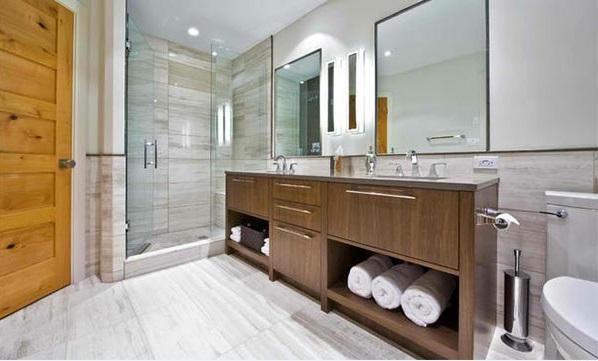badezimmer design zeitgenössich flache bad schränke