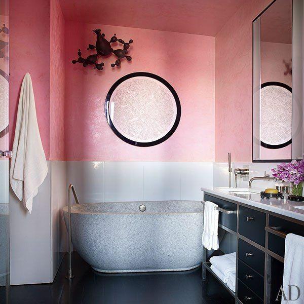 Wandfarbe für badezimmer  Altrosa Wandfarbe - ein Hauch Romantik in den Innenraum einfügen