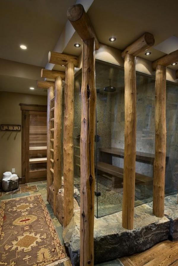 badezimmer ideen für einrichtung duschkabine glas