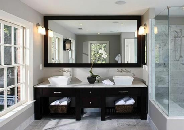 badezimmer ideen für einrichtung symmetrisch 2 spülen
