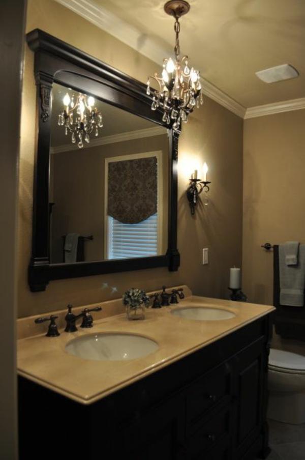 badezimmer kleiner kronleuchter design ideen badmöbel