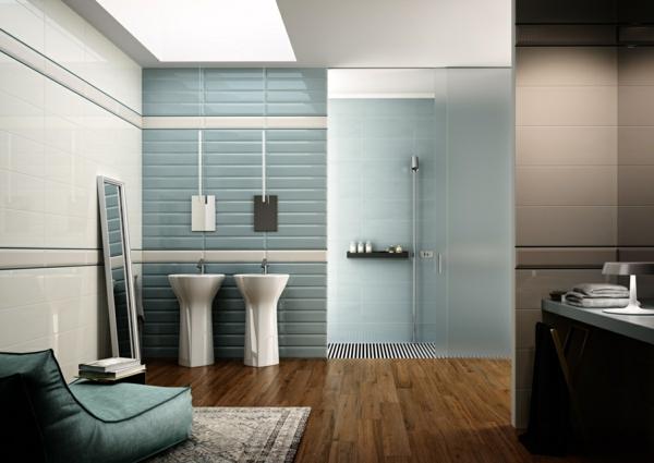 blaue fliesen fürs badezimmer - 25 moderne beispiele. design grau, Badezimmer dekoo