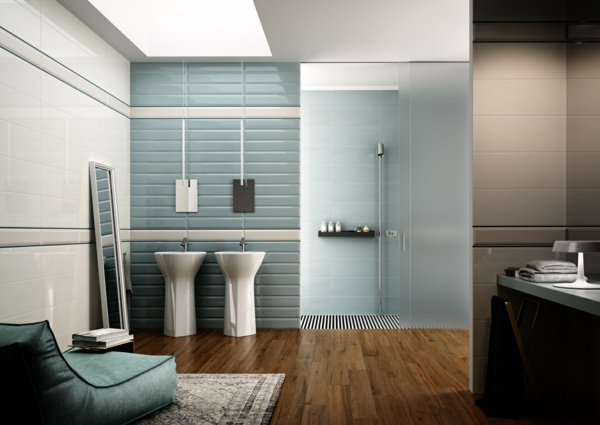 wandfarbe taubenblau - wandgestaltung ideen mit blauen farbtönen, Hause ideen