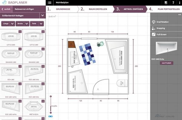 badezimmerplaner online das traumbad spielend leicht planen. Black Bedroom Furniture Sets. Home Design Ideas