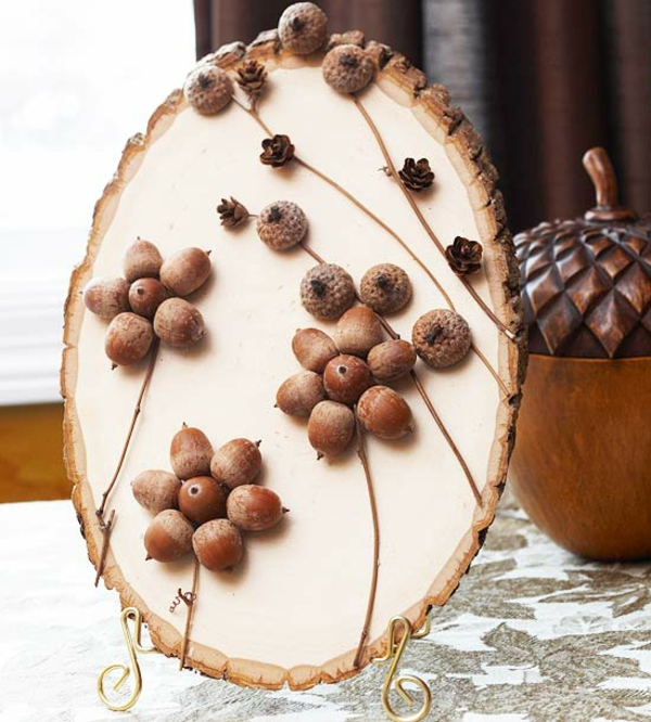 Basteln mit naturmaterialien 30 coole herbst deko ideen for Gastronomie deko