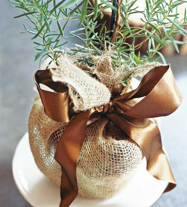 Basteln mit naturmaterialien 30 coole herbst deko ideen Dekoration weihnachtstischdeko