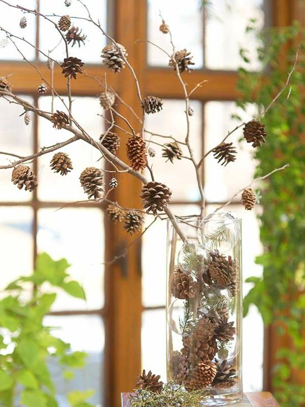 Tischdeko naturmaterialien herbst  Basteln mit Naturmaterialien - 30 coole Herbst Deko Ideen
