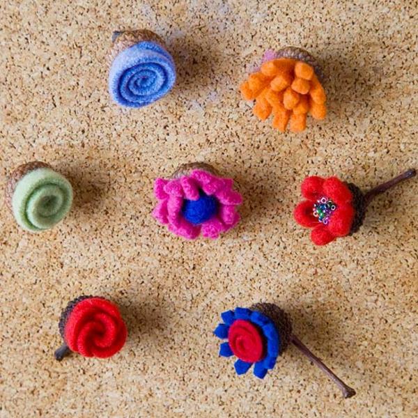 basteln mit naturmaterialien textilienherbst deko ideen