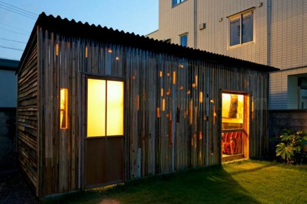 bauen mit paletten beleuchtung fenster