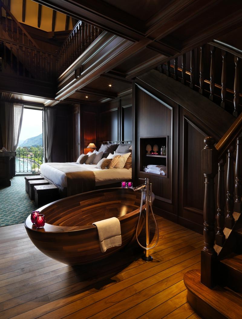 Badewanne aus holz der eyecatcher im modernen badezimmer for Holzbadewannen freistehend