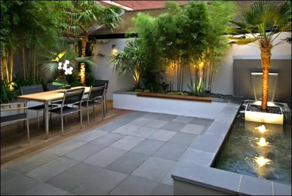 beispiele für moderne gartengestaltung tropisch pool