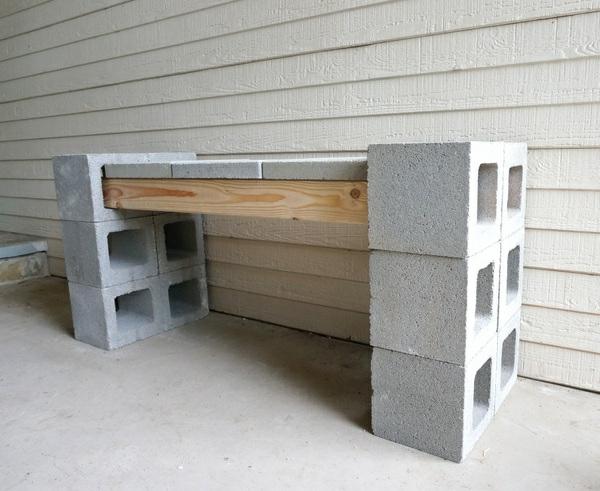 Erzeugnisse aus betonstein f r den vorderbereich for Bank bauen holz
