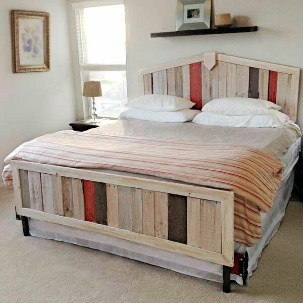 bett aus europaletten selber bauen diy schlafzimmer möbel