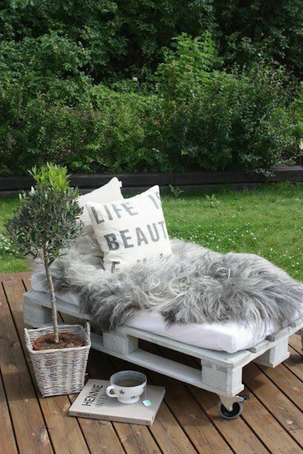 bett aus europaletten selbst bauen -coole möbel zeigen ihren charakter, Terrassen ideen